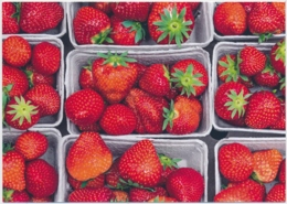 DUFTKARTE Mit Erdbeeren - Mit Webstamp - Ungelaufen/unbeschrieben - Flores, Plantas & Arboles