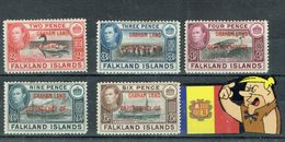 FALKAND ISLANS 5V Ch.  GRAHAM LAND - Falklandeilanden
