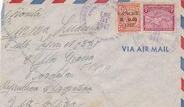 PANAMA ENVELOPPE CIRCULEE A CORDOBA ARGENTINE ANNEE 1947 PAR AVION -LILHU - Panama