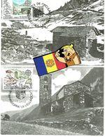 ANDORRA ANDORRE MAX CARD 2 MA 1983 - Lettres & Documents
