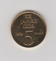 Gründungtag Der DDR XX Jahre DDR 1969 5 Mark Trabant - Souvenir-Medaille (elongated Coins)