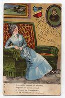 Fantaisie -- 1905--Femme Sur Sofa...( Méchanceté) ....timbre....cachet   CHEF-BOUTONNE -79.............à Saisir - Femmes