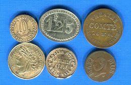 6  Jetons - Monétaires / De Nécessité