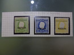 MADEIRA - D.LUIS I FITA DIREITA/ REIMPRESSOES DE 1885 COM TRAÇO FINO - Madère