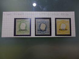 MADEIRA - D.LUIS I FITA DIREITA /REIMPRESSÔES DE 1905 DAS TAXAS DE 10 50 E 150 RÉIS - Madère
