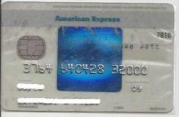 AMEX14 BRAZIL CREDIT CARD AMERICAN EXPRESS BLUE TRANSPARENTCHIP RARE - Credit Cards (Exp. Date Min. 10 Years)