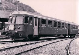 Chemin De Fer Suisse, Automotrice à Genève La Plaine, Photo 1957 CFF 224 - Stations With Trains