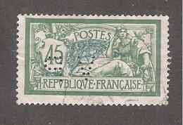 Perforé/perfin/lochung France Merson YT No 143 VP (46) - France