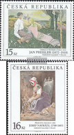 Czech Republic 201-202 (complete Issue) Unmounted Mint / Never Hinged 1998 Paintings - Ungebraucht