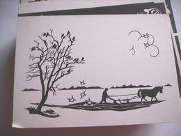 Nederland Holland Pays Bas Westerbork Knipkunst Ploegende Boer - Niederlande