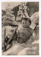 Fantaisie -- Animaux Habillés  ( Hérisson ).Mecki ..skieur...( Ski, Neige )......carte Allemande ....à Saisir - Animales Vestidos