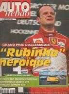 Auto Hebdo Rubens Barrichello Mika Hakkinen Patrick Depailler Juha Kankkunen Takefumi Hosaka Michael Schumacher - Sport