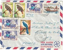 """Madagascar - Diego Suarez - Verso Cache Poste Naval - Escorteur Rapide """"L'Alsacien - Lettre Pour La France Du 04.08.1966 - Marcophilie (Lettres)"""