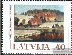Latvia 539 (complete Issue) Unmounted Mint / Never Hinged 2001 Art - Lettonie