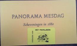 Art-Tableau, Dépliant Du PANORAMA MESDAG (Scheveningen In 1880) Par HW Mesdag Et Publicité Het Paviljoen, Pays-Bas - Pubblicitari