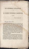 Fascicule Le Général Lafayette à La Garde Nationale Parisienne 1831 Pour Ses Frères D'armes Gardes Nationales Du Royaume - Livres, BD, Revues