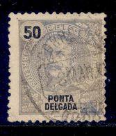 ! ! Ponta Delgada - 1898 D. Carlos 50 R - Af. 29 - Used - Ponta Delgada