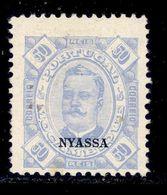 ! ! Nyassa - 1898 D. Carlos 50 R - Af. 07 - MH - Nyassa