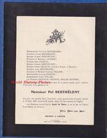 Document Ancien De 1931 - BAR LE DUC ( Meuse ) - Monsieur Pol BERTHELEMY Décédé Le 23 Mars - Overlijden