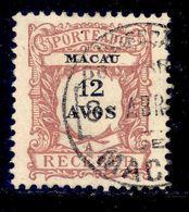 ! ! Macau - 1904 Postage Due 12 A - Af. P 07 - Used - Segnatasse