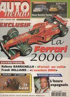 Auto Hebdo 2000 Rubens Barrichello Frank Williams Didier Auriol Ferrari 2000 Paris Dakar Jean-Louis Schlesser Henri Magn - Sport