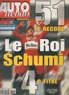 Auto Hebdo 2001 Michael Schumacher 4e Titre Mitsubishi Lancer Alain Prost BMW325 Mika Hakkinen Mark Webber - Sport