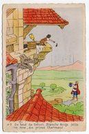 DISNEY  -- Illustrateur ????? --1956--Blanche-Neige Jette Une Rose Au Prince Charmant.......à Saisir - Other