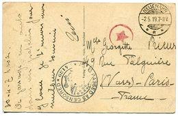 CPA Allemagne 1919 * MONTABAUR ( Vue Générale) Cachet Passed As Censored A.E.F. Aigle + Cachet Rond étoile Rouge - Montabaur