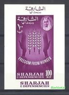 Sharjah 1963 Mi Bl 3 MNH ( ZS10 SHAbl3 ) - Against Starve