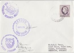 Polaire Néozélandais, N° 8 Obl. Scott-Base Le 5 FE 72 + 3 Cachets Station Vanda (Leader 71/72, Tête De Chien, Carte) - Ross Dependency (New Zealand)