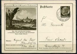"""German Empires 1937 Ganzsache Mi.Nr.P236/36-74-1-B5""""Lernt Deutschland Kennen!-Kolberg,Parkanlagen  """"TST""""1 GS Used - Allemagne"""