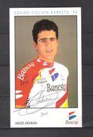 CARTE PHOTO  Format 10 X 16.5 / DÉDICACE De MIGUEL INDURAIN - Equipe BANESTO 1996 - Wielrennen