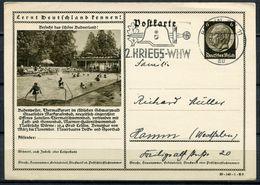 """German Empires 1940 Ganzsache Mi.Nr.P236/39-140-1-B9""""Lernt Deutschland Kennen!-Badenweiler,Schwimmbad""""WHW MWST""""1 GS Used - Allemagne"""