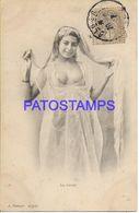 136734 AFRICA ALGER ARGELIA ALGERIA COSTUMES WOMAN SEMI NUDE DANCER POSTAL POSTCARD - Non Classificati