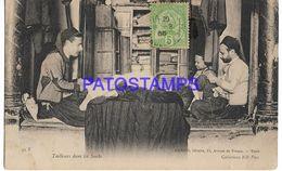 136736 AFRICA TUNIS TUNISIE TUNEZ COSTUMES TAILORS IN THE SOUKS POSTAL POSTCARD - Non Classificati