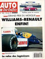 Auto Hebdo 1991 Riccardo Patrese Nigel Mansell Ayrton Senna Alain Prost Porsche 911 Jean Graton Giorgio Pianta Jean Todt - Sport