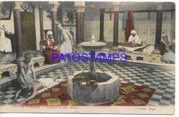 136742 AFRICA ALGER ARGELIA ALGERIA MAURE BATHROOM INTERIOR COSTUMES MAN'S POSTAL POSTCARD - Non Classificati
