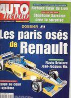 Auto Hebdo 2001 Dossier Renault P 18 à 34 - Fernando Alonso Alain Prost Richard Burns Stéphane Sarrazin Yves Loubet - Sport