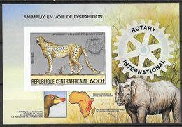 Central African Republic 1983 MiNr. Block 265B  Cheetah Berds Rotary International S/sh MNH** 22,00 € - Rotary, Lions Club