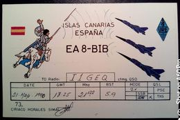 QSL - CARD ISLAS CANARIAS (ESPAÑA - SPAGNA) - 1990 - Radio Amateur