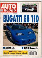 Auto Hebdo 1991 Jean Alesi Schumacher Bugatti Alain Prost Magny-Cours Peugeot Keke Rosberg Michael Schumacher Nicola Mat - Sport