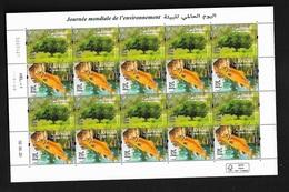 Maroc / Morocco 2020 - Journée Mondiale De L'environnement - Neuf** - Planche De 20 Timbres (2 Timbres X 10) - Maroc (1956-...)