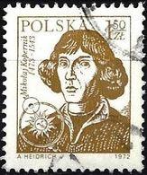 Poland 1972 - Mi 2231R - YT 2075s ( Nicolas Copernic ) With Black Number On The Back - 1944-.... Republik