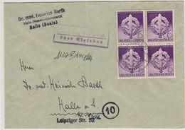 Deutsches Reich Brief Mit VB-Frankatur+Landpoststempel - Lettres & Documents