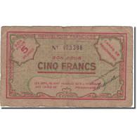 Billet, Algeria, 5 Francs, 1943, 1943, TB+ - Algerien