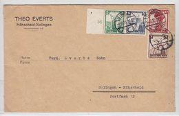 Deutsches Reich Brief Der Fa.Theo Evers Höhscheid Mit Trachtenfrankatur - Lettres & Documents
