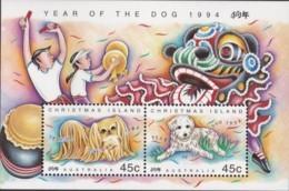 Christmas Island 1994 Year Of The Dog Sc 359b Mint Never Hinged - Christmas Island