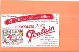 BUVARD Chocolats POULAIN -  Bon Voyage Monsieur DUMOLLET - - Kakao & Schokolade