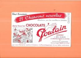 BUVARD Chocolats POULAIN -  MA PETITE FOLIE - - Kakao & Schokolade