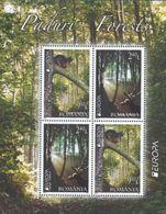 CEPT / Europa 2011 Roumanie N° BF 405 ** Les Fôrets - Ecureuil Et Cert - 2011